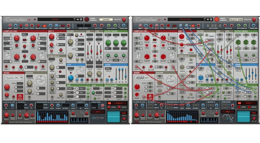 Propellerhead Complex-1 with and without cables