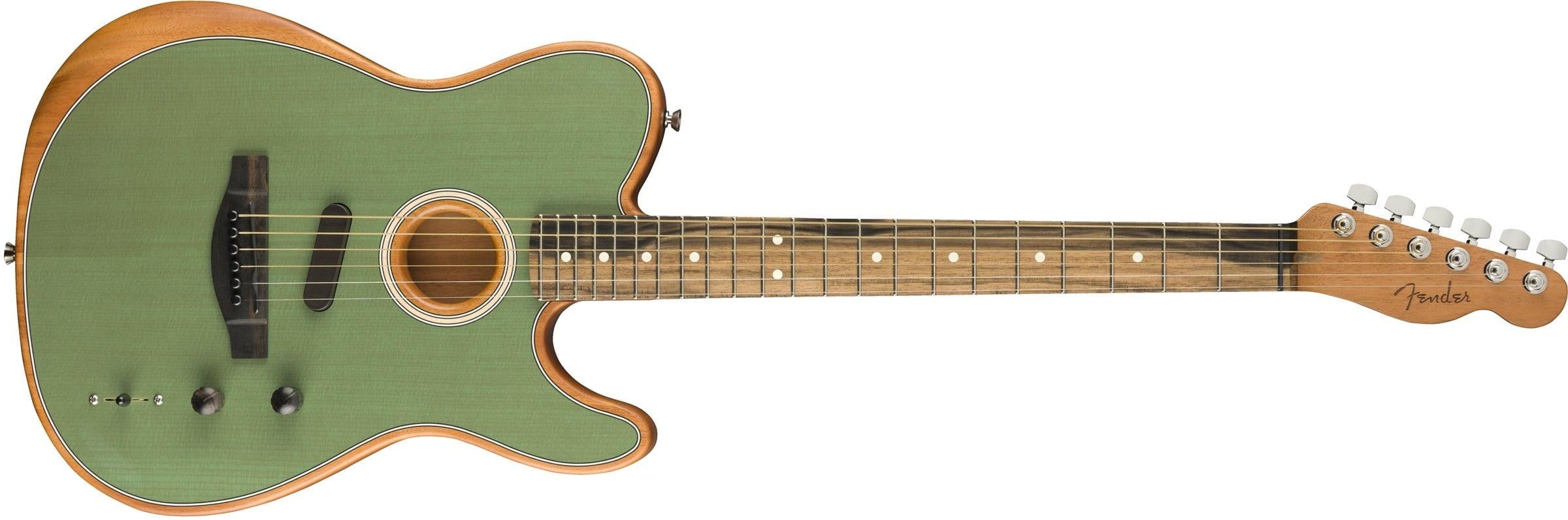 NAMM 2019 Fender American Acoustasonic Series Telecaster in Seafoam green