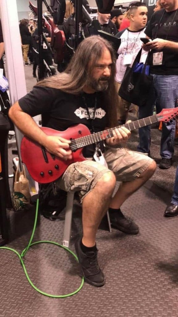 Solar Guitar Single Cut NAMM 2019 Ola Englund 8-string red black