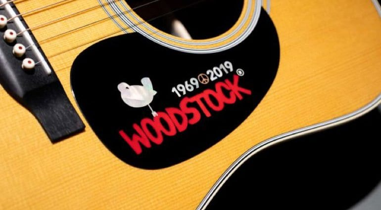 Martin D-35 Woodstock 50th pickguard. At least it is subtle