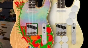 Fender Jimmy Page Mirrored and Dragon Telecasters Masterbuilt by Paul Waller