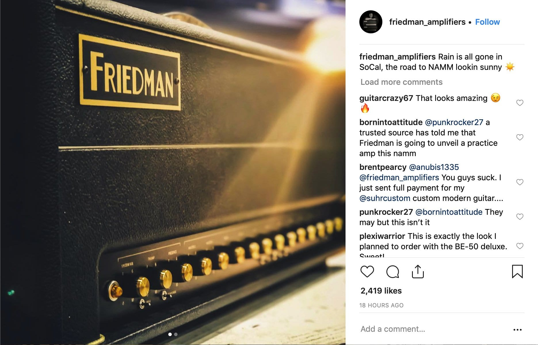 Friedman SoCal? 2019 Instagram