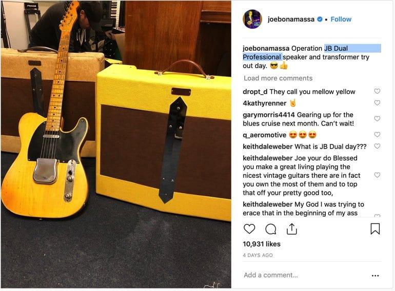 """Fender Joe Bonamassa """"B Dual Professional"""" on Instagram"""