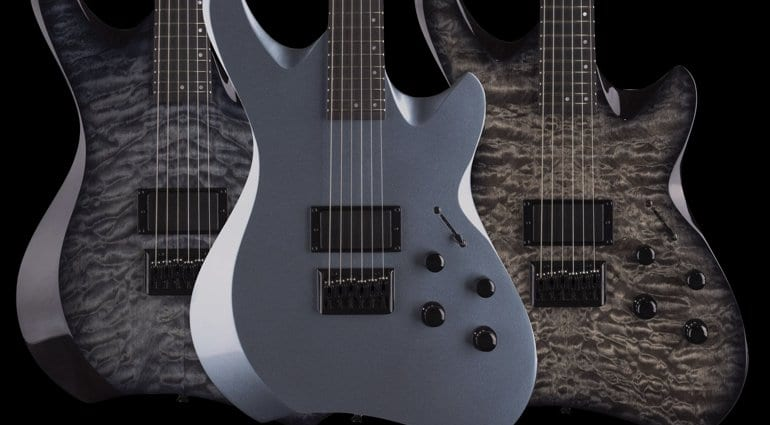 Charcoal Burst, Trans Black Burst and Metallic Silver Line 6 Variax Shuriken SR250 Electric Guitar
