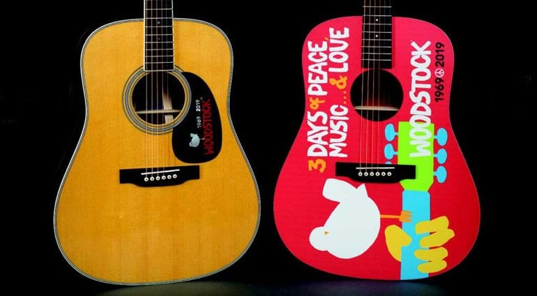 Martin Woodstock 50th Anniversary acoustic guitars