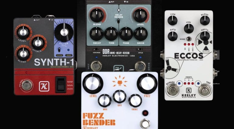 NAMM 2019- Keeley announces new Synth-1, DDR, Fuzz Bender & Eccos
