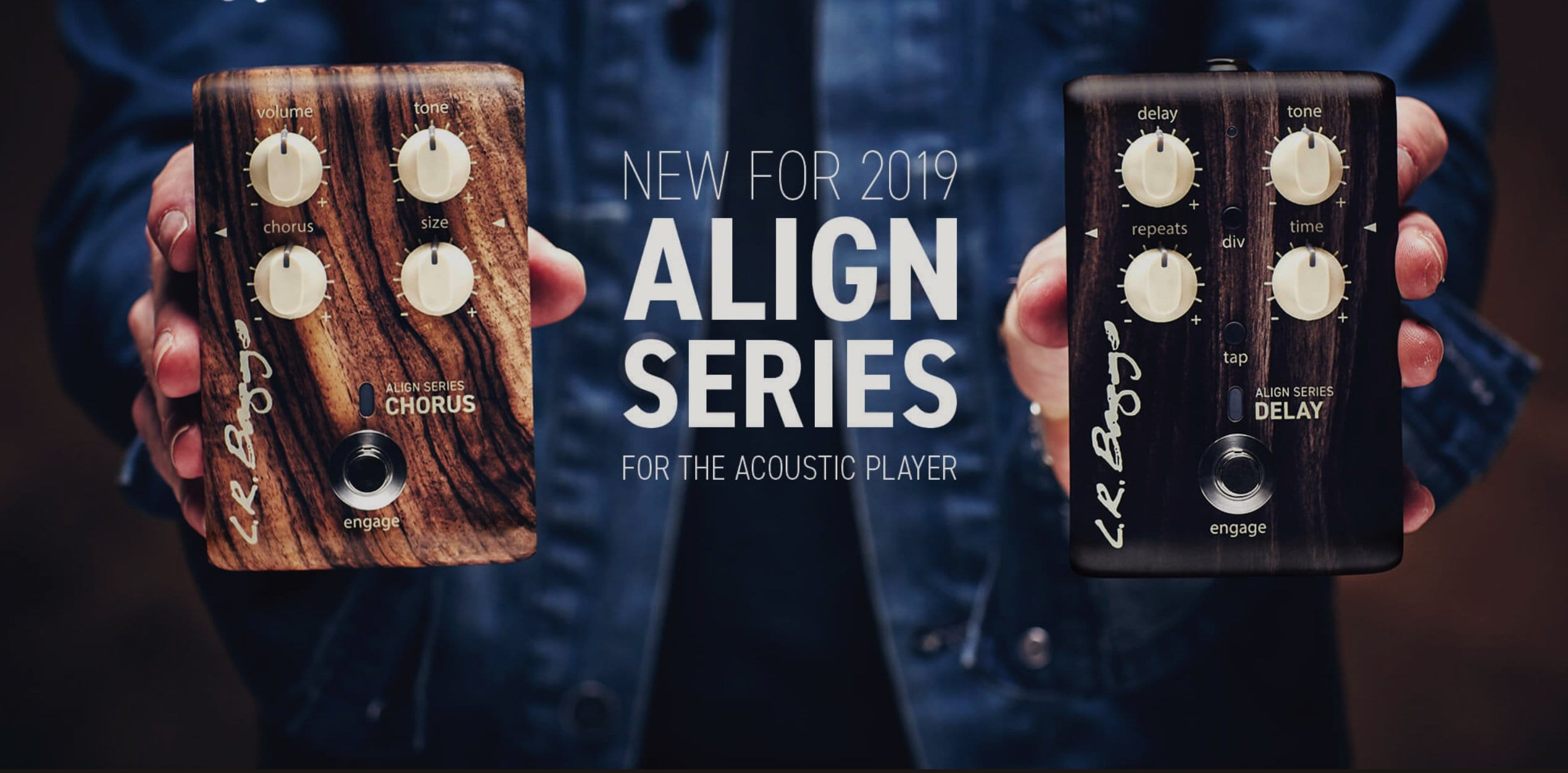 NAMM 2019- LR Baggs Align Series adds new chorus and delay for 2019