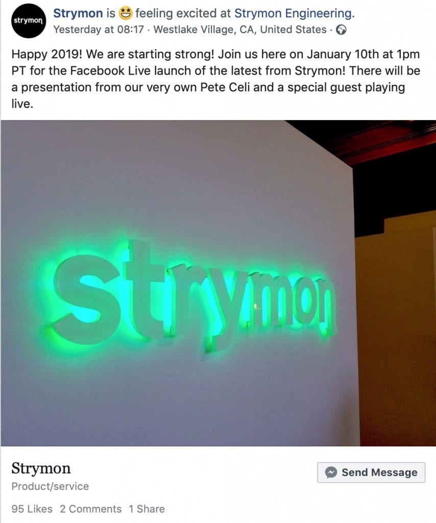 Styrmon Facebook tease January 10th