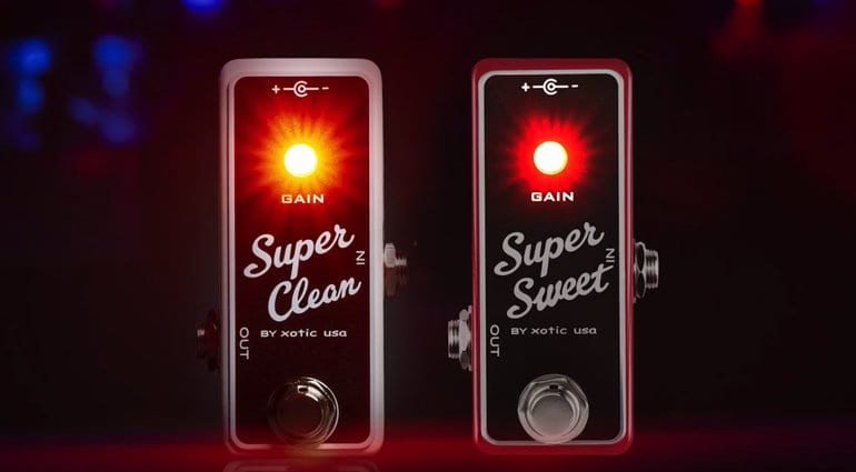 The Super Clean Buffer and Super Sweet Booster from Xotic Effects