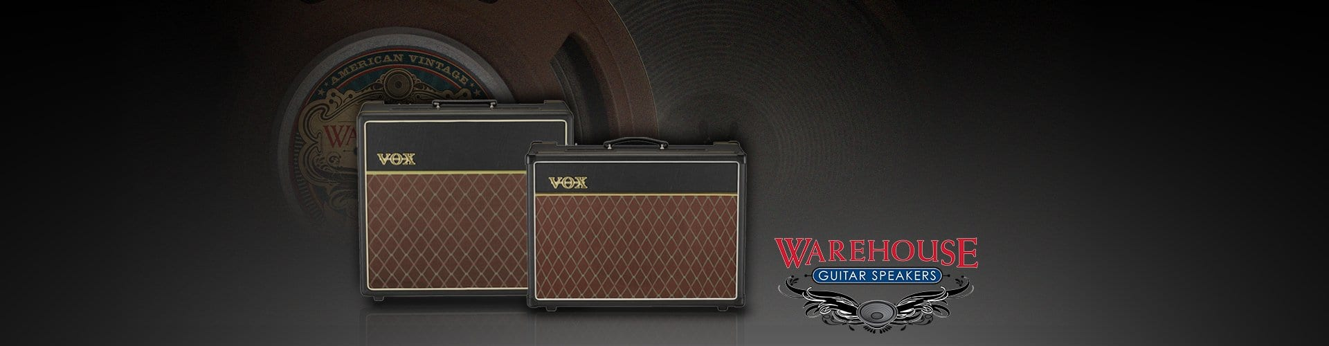 New Vox AC15 models with Warehouse speakers