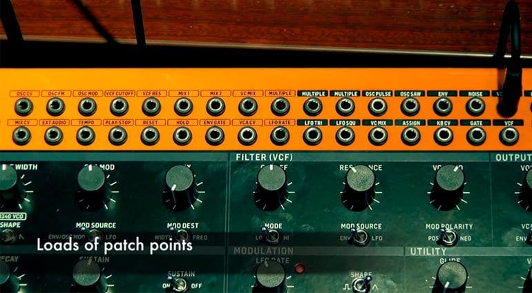 Behringer Crave patch points