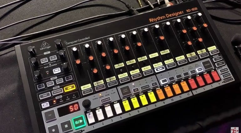 Behringer RD-808 Rhythm Designer sound demonstration - gearnews com
