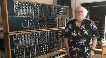 Walter Holland and his Moog
