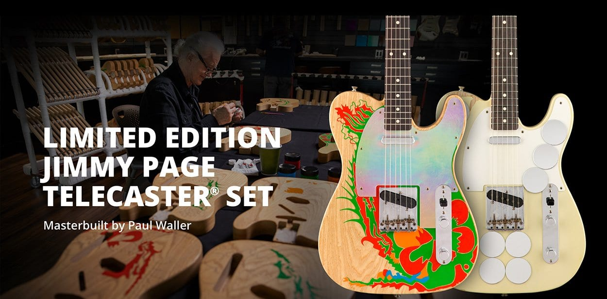 Fender Jimmy Page Dragon and Mirror Telecasters