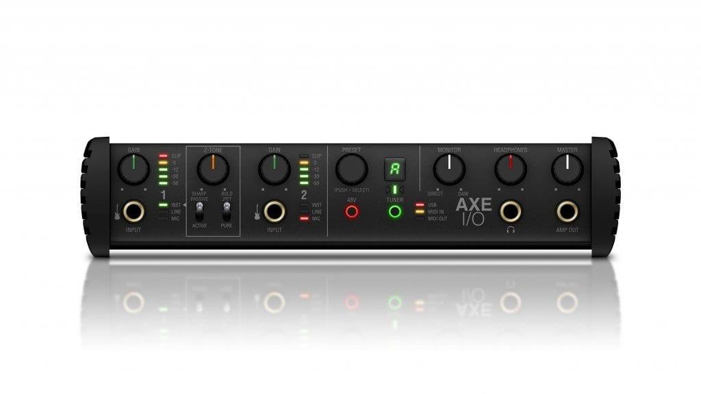 IK Multimedia AXE I/O front panel