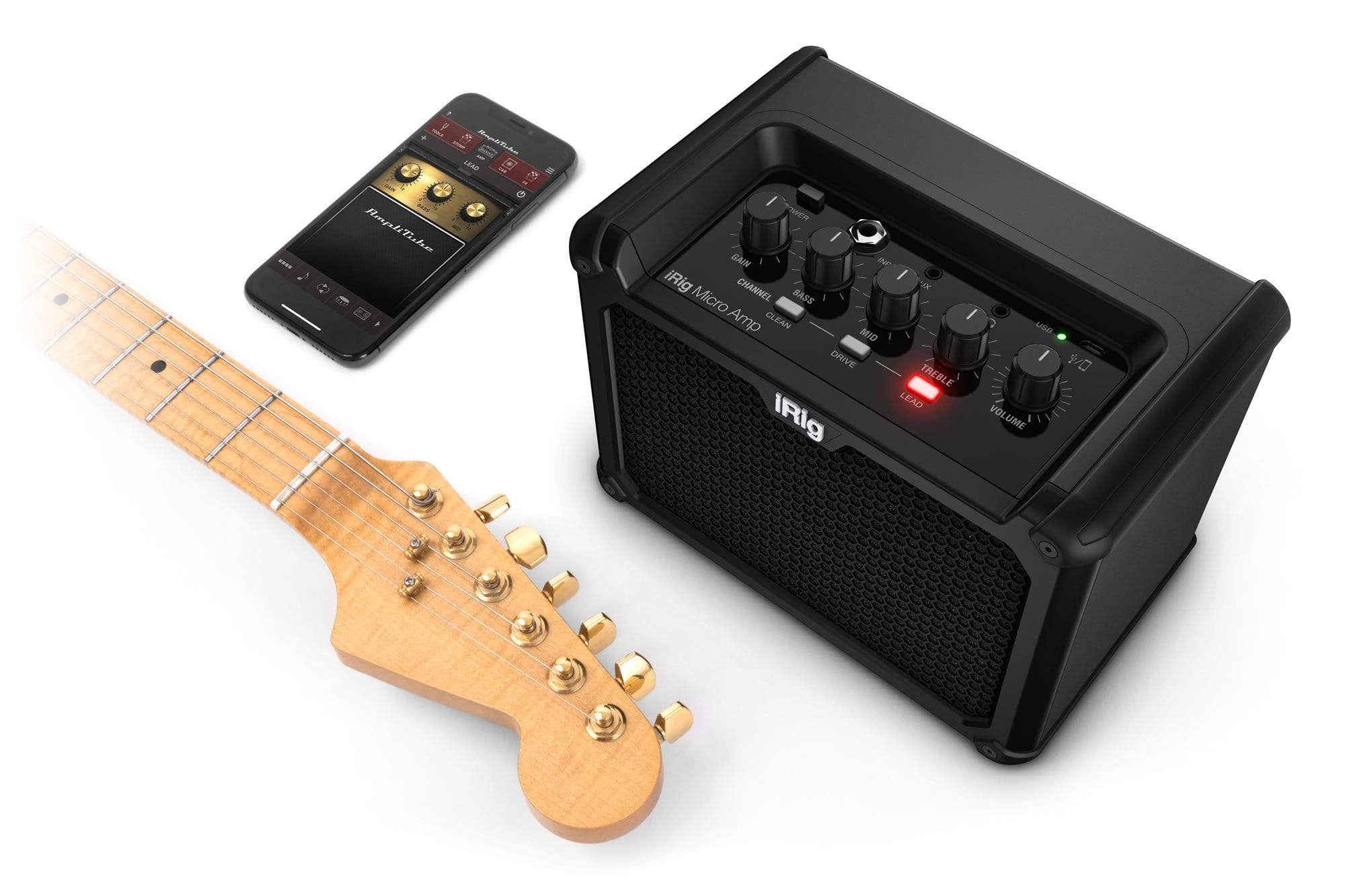IK Multimedia iRig Micro Amp and Apple iPhone