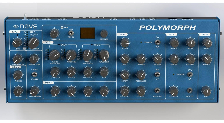 Nave Polymorph og synthesizer built from Polivoks ... on behringer dm100, behringer tube monster, behringer tube overdrive,