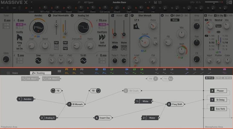 Native Instruments MASSIVE X Routing