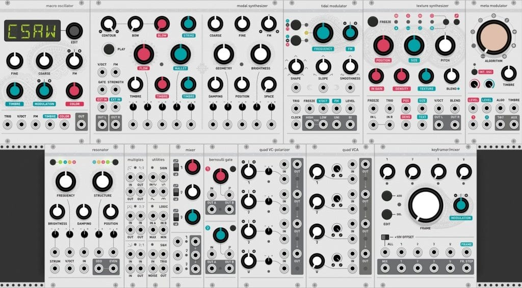 Mutable Instruments on VCV Rack