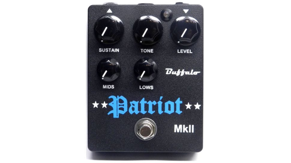 Buffalo FX boutique take on the classic Civil War fuzzPatriot MkII
