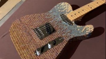 Burls Art Coloured Pencil Telecaster