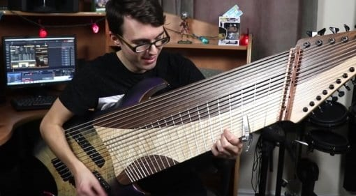 YouTube's Stevie T gets a 20-String Guitar