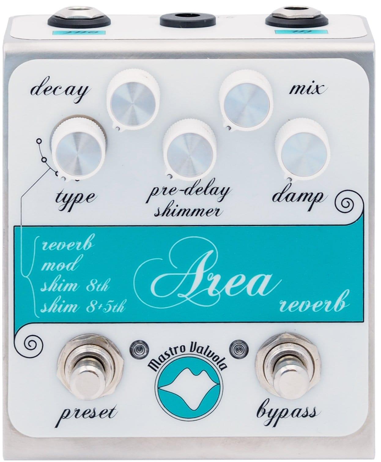 Mastro Valvola announces Area Multi Reverb MkII pedal