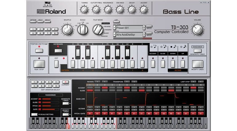Roland TB-303 VST editor