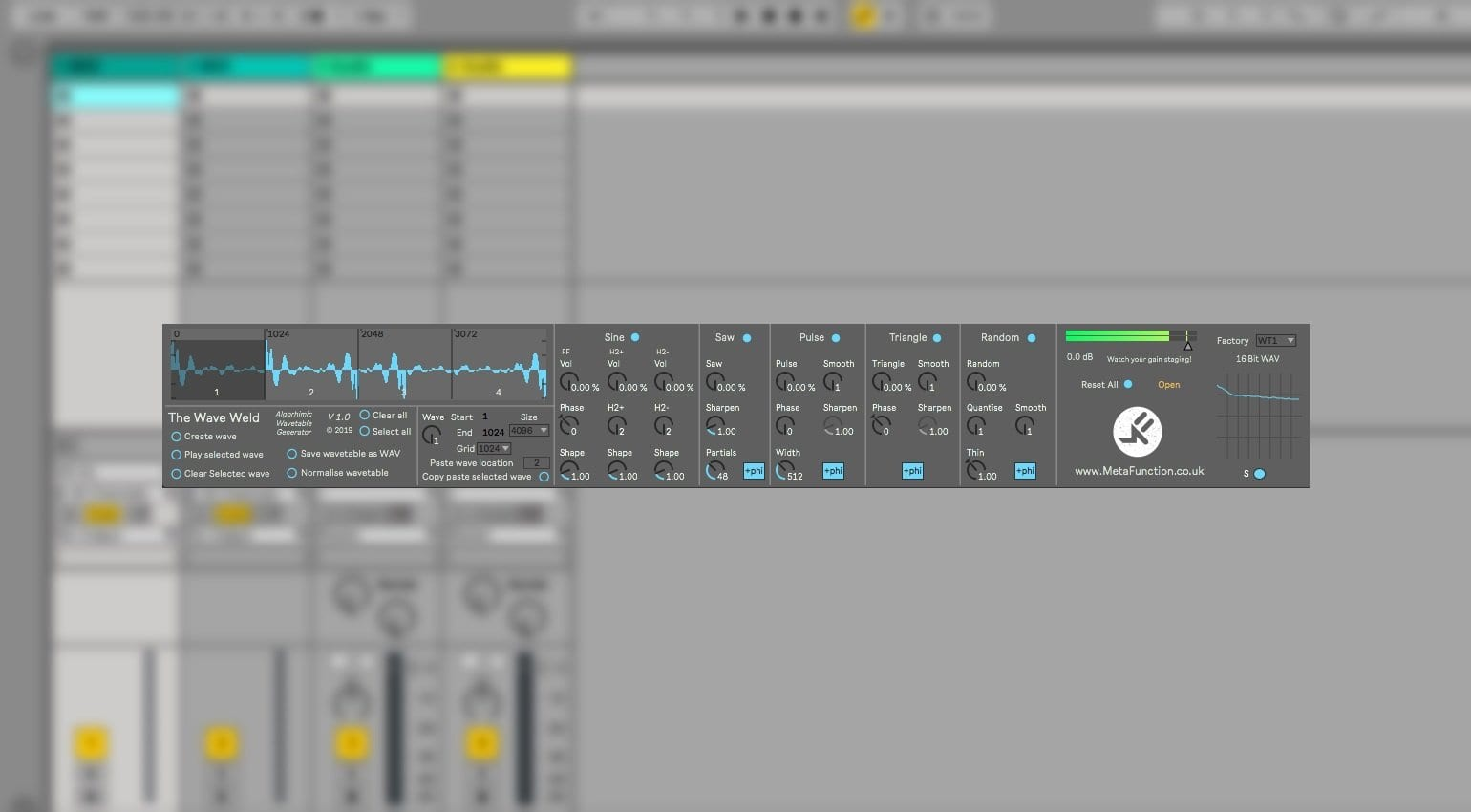 wave weld ableton max for live