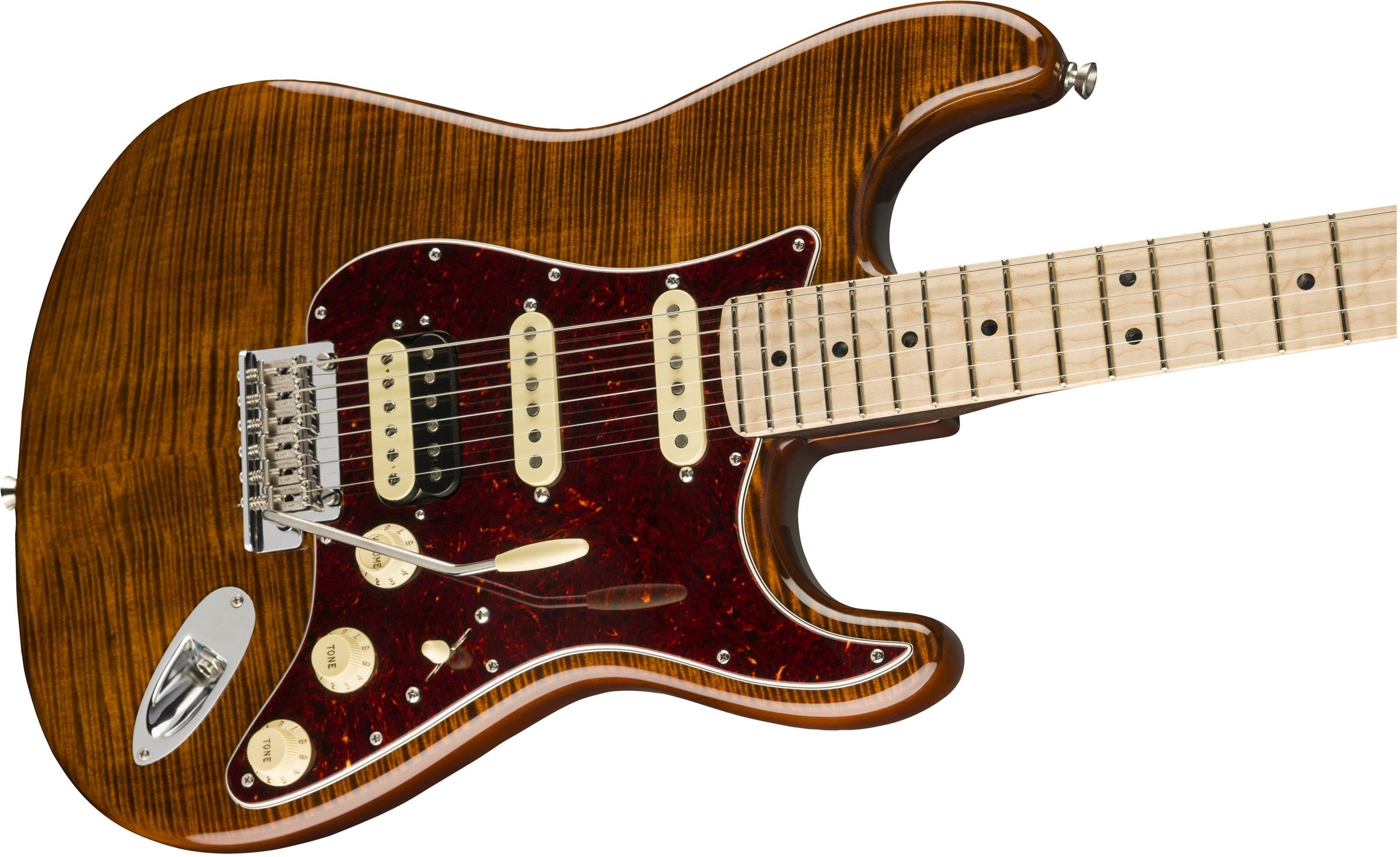 Fender released their new Flame Maple Top Stratocaster.