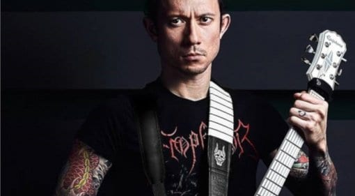 Mr Heafy's double guitar strap by Richter