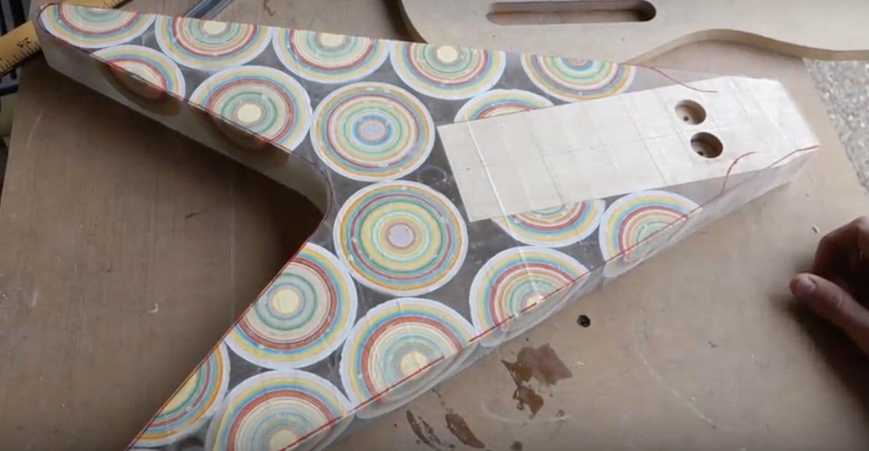 Burls Art Jawbreaker Flying V