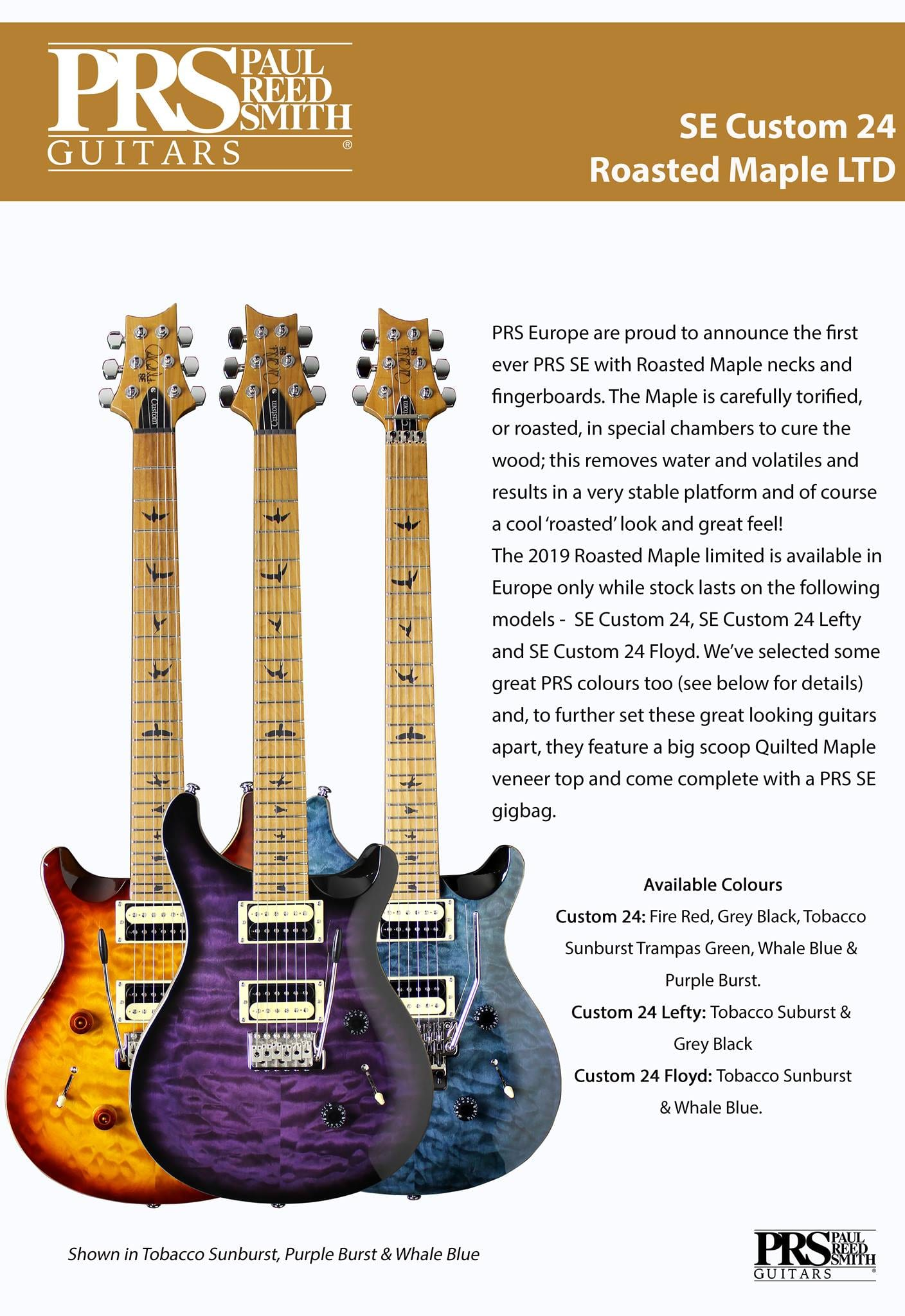 PRS SE Custom 24 Limited Editions with Roasted Maple necks