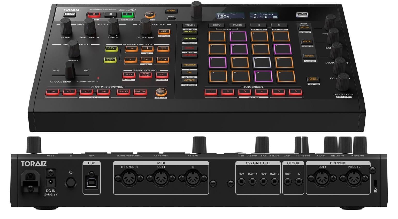Toraiz SQUID: hardware 16 track sequencer that'll run MIDI, USB, CV