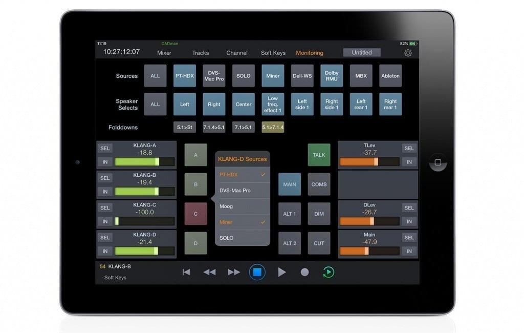 Avid Pro Tools Control App Monitoring