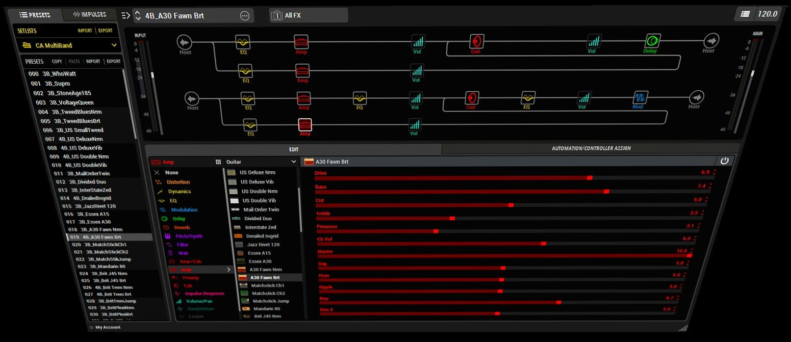 Craig Anderton's Amazing Multiband Helix Presets - 4-band preset
