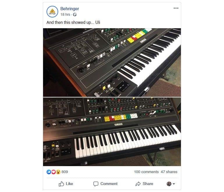 Behringer Facebook post