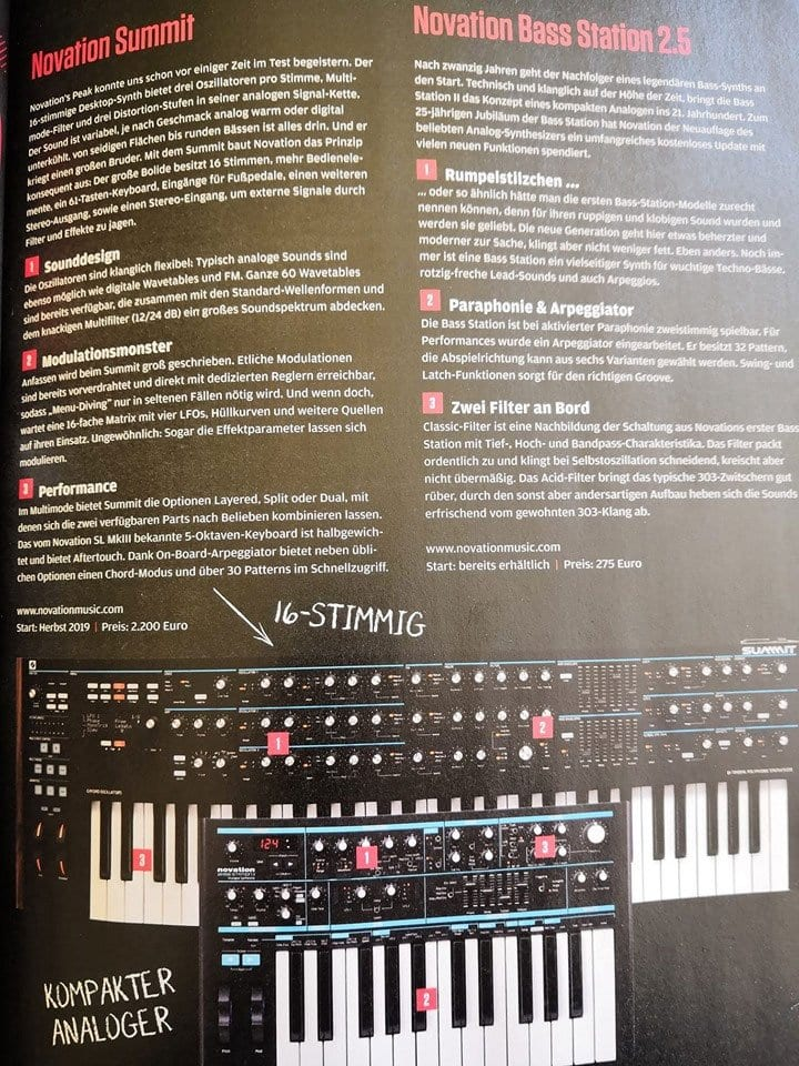 Novation Summit leak