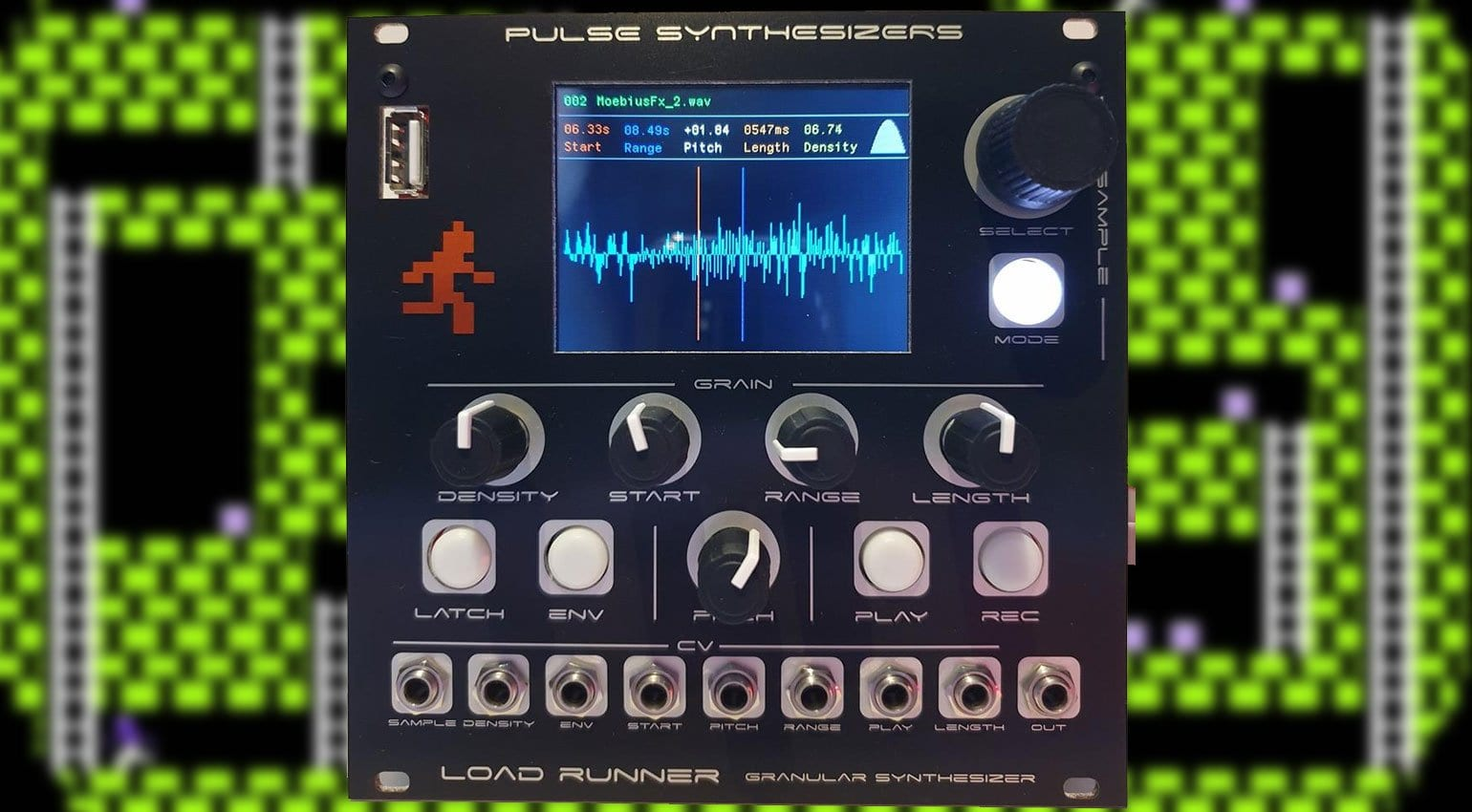 Pulse Synthesizers Load Runner Granular Synthesizer for