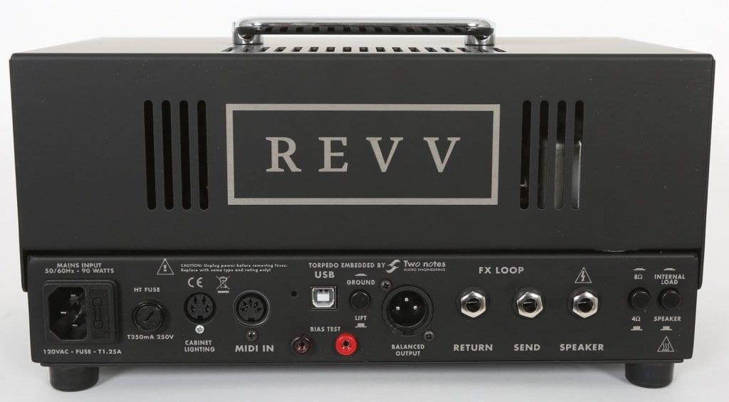 REVV D 20 rear panel