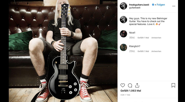 Behringer E-Guitar LEs Uli Singlecut