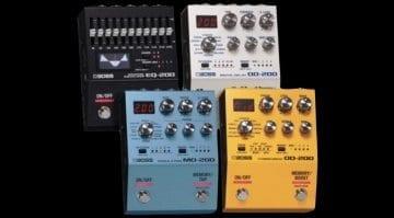 Boss 200 Series premium pedals lineup