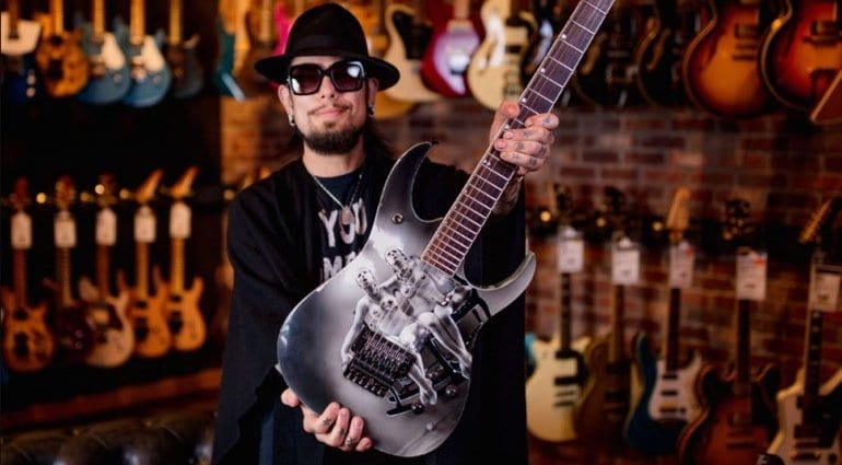 Dave Navarro reunited with long-lost custom Nothing Shocking Ibanez