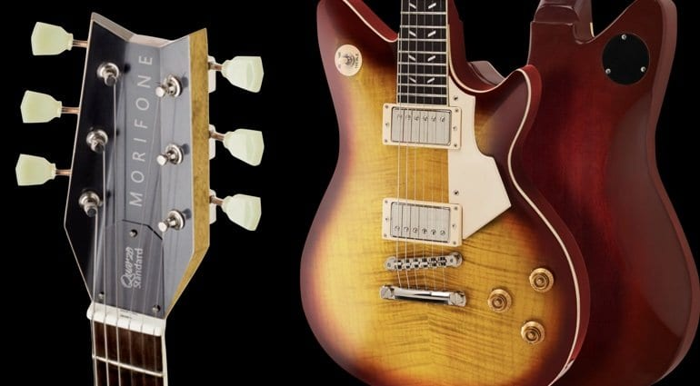 Morifone debuts the Quarzo - '59 Burst specs with an Aileron headstock