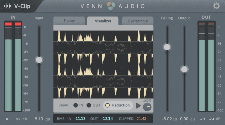 Venn Audio V-Clip: A fully customizable clipping and saturation tool