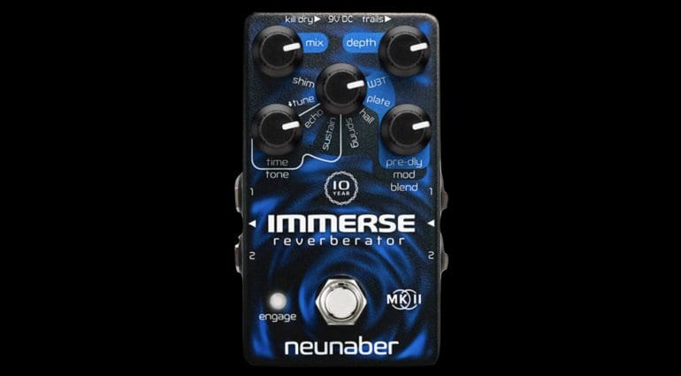 Neunaber 10-year anniversary limited-edition Immerse Mk II reverb pedal