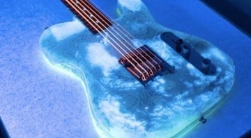 Udon Noodles Glow In The Dark Guitar