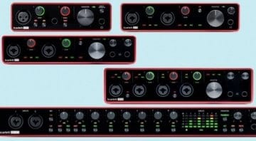 Focusrite Scarlett 3rd generation audio interfaces