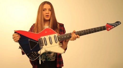 Brian May builds a signature electric guitar for Arielle