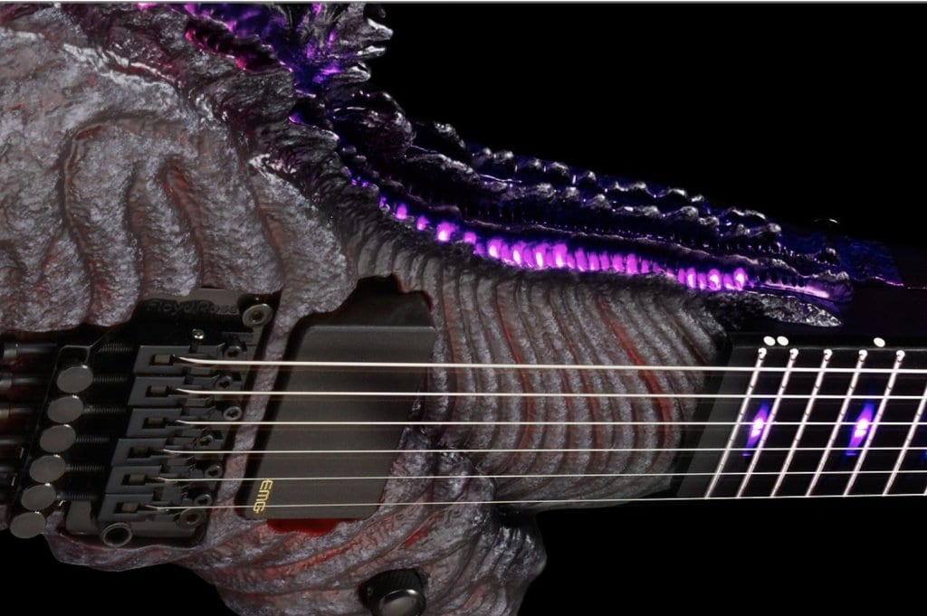 ESP limited-edition Godzilla model with Purple LED